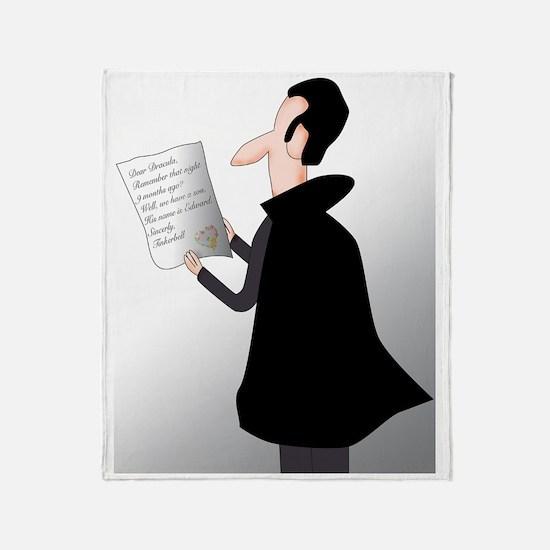 draculas letter Throw Blanket