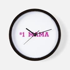 #1 Mama in hot pink Wall Clock
