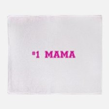 #1 Mama in hot pink Throw Blanket