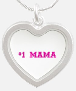 #1 Mama in hot pink Necklaces