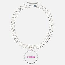 #1 Mama in hot pink Bracelet