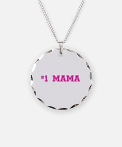 #1 Mama in hot pink Necklace
