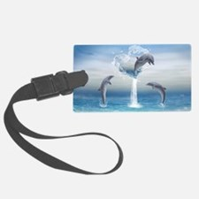 dolphins_clutch_bag_front_ Luggage Tag