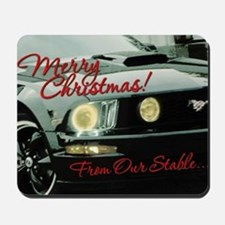 Xmas-merry-outMustang2 Mousepad
