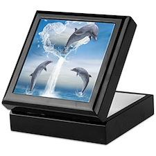 dolphins_ipad_sleev_h_f Keepsake Box