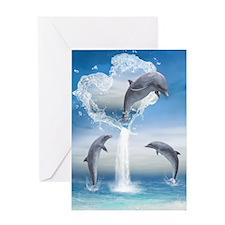 dolphins_ipad_sleev_h_f Greeting Card