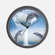 dolphins_ipad Wall Clock