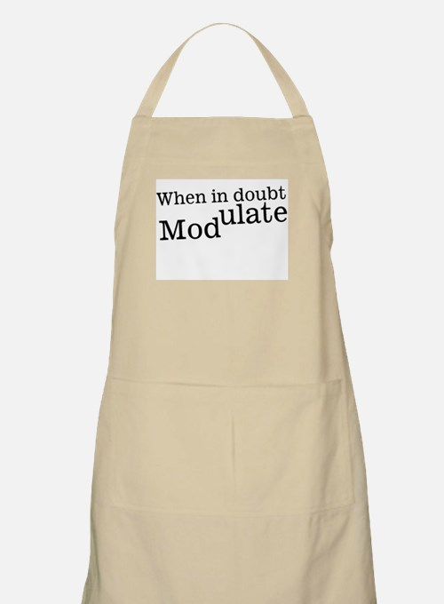 When in Doubt Modulate Music BBQ Apron