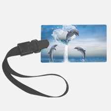 dolphins_laptop_skin Luggage Tag