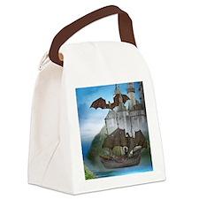 dragon_notecard_V_F Canvas Lunch Bag