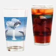 dolphins_calendar_print Drinking Glass