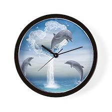 dolphins_calendar_print Wall Clock