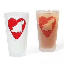 love-Guernsey-post-card-size Drinking Glass