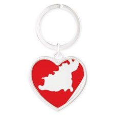 love-Guernsey-post-card-size Heart Keychain