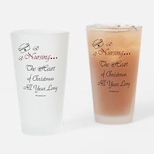 holiday-poem-black Drinking Glass