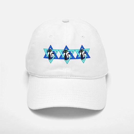 Jewish Cat Stars Baseball Baseball Cap