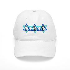 Jewish Cat Stars Baseball Cap