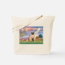 Cloud Angel & Siamese Tote Bag