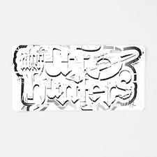 UUFOH grunge 4blk 10x14 x Aluminum License Plate