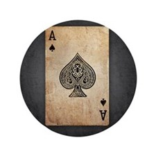 """Ace of Spades 3.5"""" Button"""