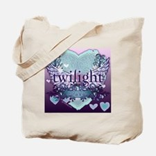 2020 twilight forever aqua heart with pur Tote Bag