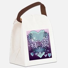 2020 twilight forever aqua heart  Canvas Lunch Bag