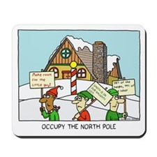 occupy the north pole Mousepad