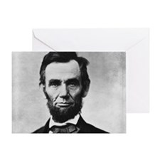 abe lincoln puzzle Greeting Card