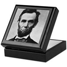 abe lincoln puzzle Keepsake Box