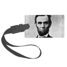 abe lincoln puzzle Luggage Tag