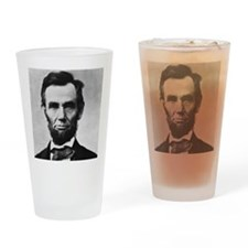 abe lincoln puzzle Drinking Glass
