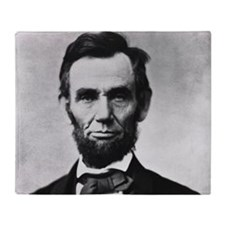 abe lincoln puzzle Throw Blanket