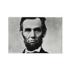 abe lincoln puzzle Rectangle Magnet