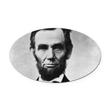 abe lincoln puzzle Oval Car Magnet