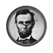 abe lincoln puzzle Wall Clock