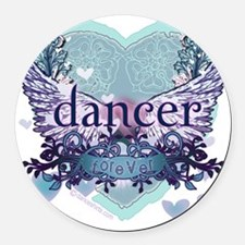 Dancer Forever by Danceshirts.com Round Car Magnet