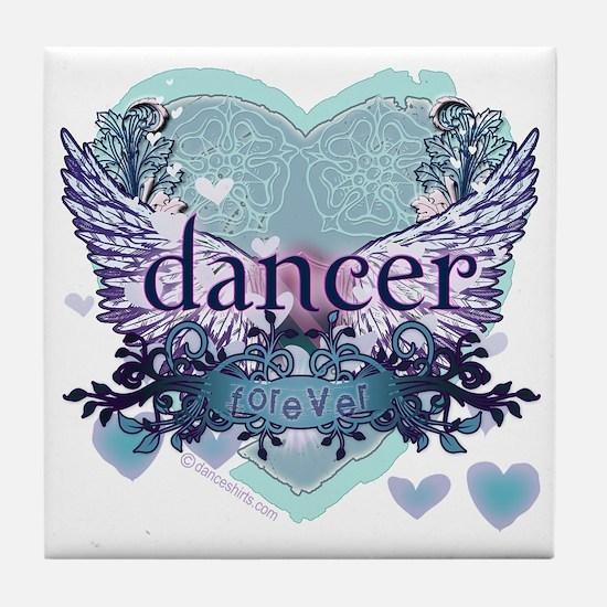 Dancer Forever by Danceshirts.com Tile Coaster