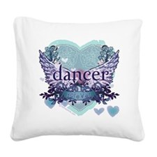 Dancer Forever by Danceshirts Square Canvas Pillow