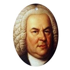 bach puzzle Oval Ornament