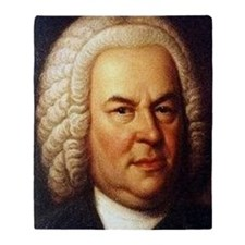 bach puzzle Throw Blanket