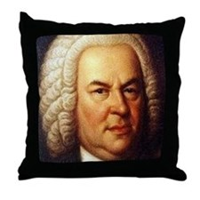 bach puzzle Throw Pillow