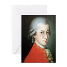 mozart puzzle Greeting Card