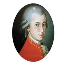 mozart puzzle Oval Ornament