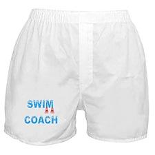 Swim Coach Blue Boxer Shorts
