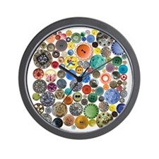 Buttons in Square Wall Clock