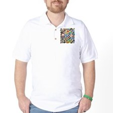 Buttons in Square T-Shirt