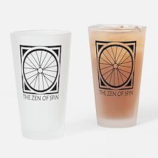 zenSpinBlack4Whitet Drinking Glass