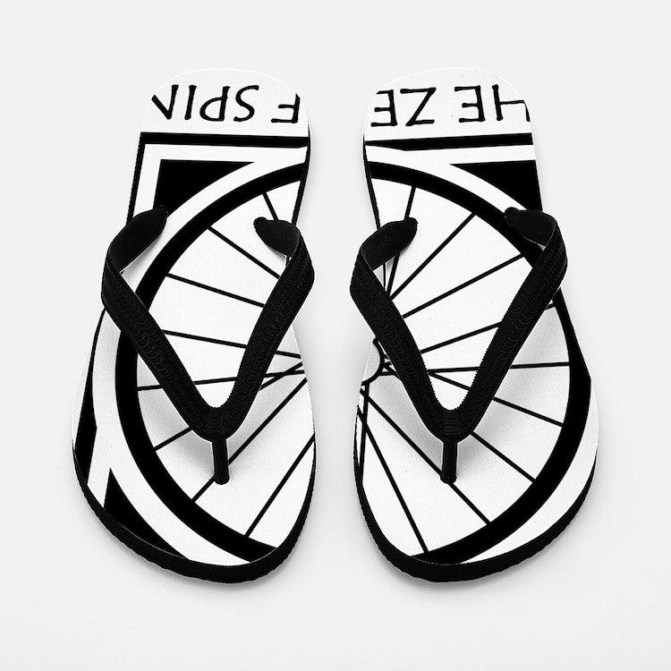 zenSpinBlack4Whitet Flip Flops