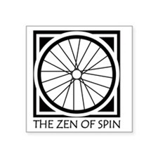 "zenSpinBlack4Whitet Square Sticker 3"" x 3"""