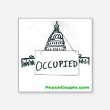 """occupy congress shirt Square Sticker 3"""" x 3"""""""